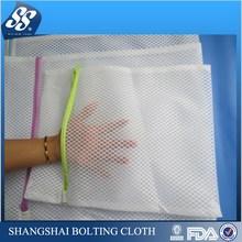 2015 hot selling felt mesh drawstring laundry bags