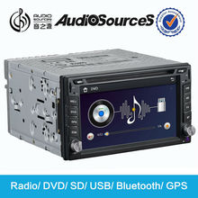 double din car stereo for car Universal car multimedia system with GPS radio SD USB map AUX