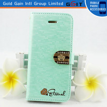 Fashionalbe Water Cube Design Megnetic Leather Flip Cover For Samsung S3 I9300 With Stand Diamond Flip Case For Galaxy S3