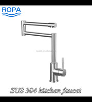 luxury sanitary ware lead free stainless steel 304 folding shower/kitchen faucet stand mixer