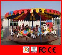 Amusement park equipment kiddies rides carousel for sale