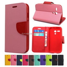 Fashion Book Style Leather Wallet Cell Phone Case for LG f60/D390N with Card Holder Design