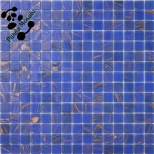 MB SMH01 Wholesale Golden Line Mosaic Decorative Glass Backsplash Tile Bedroom Mosaic Wall Tile Blue Glass Mosaic Tile
