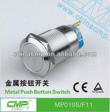 Export CMP Mechanical metal illuminated latching&momentary waterproof push button switch ,stainless steel,anti-vandal