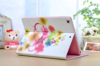 Shining crystal book leather case for iPad Air texture flip cover