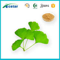 Hot sale ginkgo biloba extract powder with Kosher, Halal, FDA registered for ginkgo biloba capsules