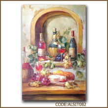 Good wine glass oil painting