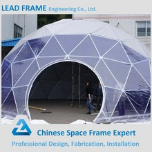 Geodesic dome aluminum frame show room tent prefabricated hall