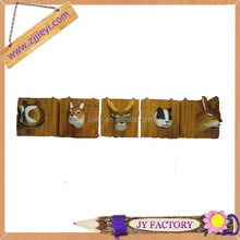 Decorative carved animal head clothes hangers wholesale clothes hanger hook