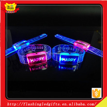 USA Supplier Night Glow LED Bracelet Kids Party Supplies in China LED Silicon Wristband