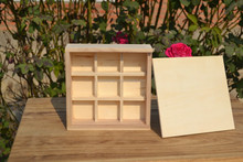 hotsell wooden storage boxes with 9 compartments