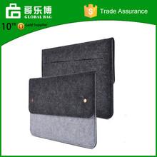 Dark Gray Felt & Leather Case Sleeve Pouch for Laptop