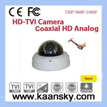 vandal- proof HD-TVI CCTV dome camera housing with 2 megapixel