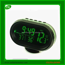 Indoor Outdoor Thermometer Digital for Car with Voltmeter