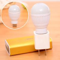 5V 5W Mobile LED Bulb Lamp Light With USB Interface Hook