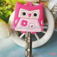 custom design animal pvc soft rubber key holder