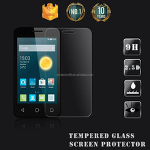 New model screen protector / Anti shock Anti fingerprint high clear tempered glass screen for Alcatel One Touch Pixi 3