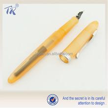 Transparent Orange Plastic Fountain Pen
