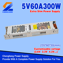 300W 5V 60A Extra Slim LED Power Supply For LED Display Screen