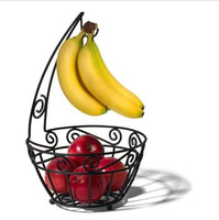 Multi Purpose Bowl With Attached Banana Hanger Fruit Display