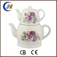 Electric Samovar,Turkish Ceramic/Porcelain Double Teapot