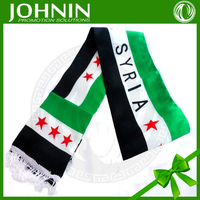 Fast shipping Cheap JOHNIN made promotional satin Syria scarf
