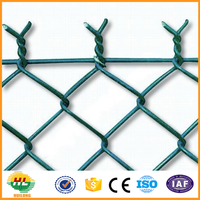 Galvanized /vinyl coated pvc coated chain link fence price/chain link fabric( 20 Years Professional Factory )