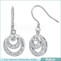hainon wholesale long silver threader earrings