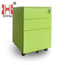 new style and hot sale .small stainless mobile cabinet ,with 3 drawers