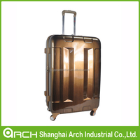 customized designer abs travel luggage/pc trolley luggage bag/suitcase set