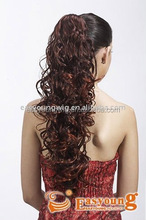 Wholesale synthetic curly claw clip in ponytail hair pieces, hair accessory