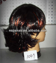 cheap price short synthetic lace front wigs for black women