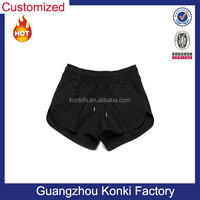 Black color fabric ready made for men mini shorts