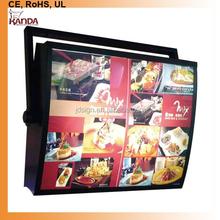 Acrylic menu rotating light box and led menu light box