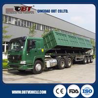 60 tons 3 axles side dump semi trailer (tipper truck trailer)