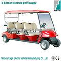 6 asientos de carro de golf, 5KW AC motor, 5.3KW DC motor, CE, precio barato, EG2069K