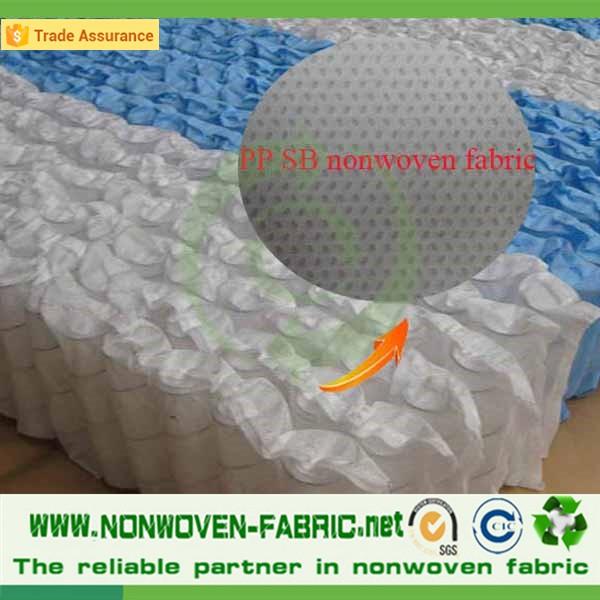 polipropileno virgem tecido não tecido spunbond para colchão de mola / bolso