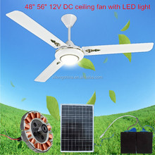 High speed DC brushless motor 12v decorative ceiling fans with lights