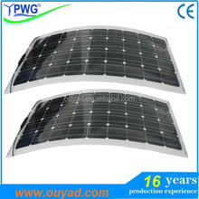 Factory price semi flexible solar panel 20W 30W 50W wholesale in good quality