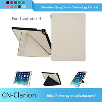 High Quality Unique Design High Selling Pc Tablet Cases for iPad mini 4 origami