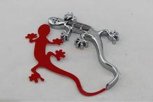 Solar led 3D Gecko Car Badge Emblem Warning Flash Tail Light,car badges auto emblems