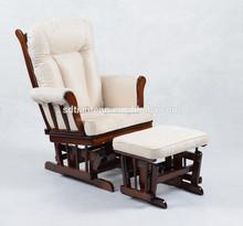 le lait en suède fs planeur en bois fauteuil avec pouf