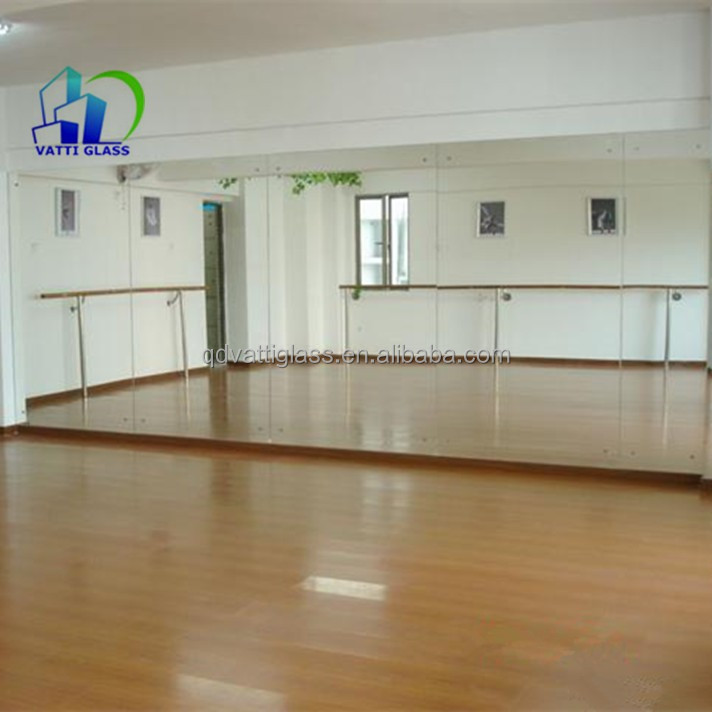 Cheap china large frameless gym and dance mirrors buy for Espejos para gimnasio
