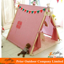 100% Handcraft cotton canvas Indian teepee kids tent