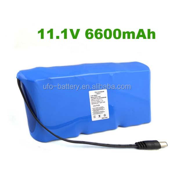 ICR18650-3S3P-11.1V-6600mAh