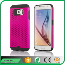 alibaba trade assurance mobile phone pc+tpu mesh combo case for samsung galaxy s6 cover