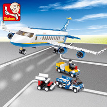 2015 Hottest toys for kids sluban plastic building block toys abs plastic of aviation airport play set helicopter