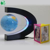 High end gift C shape base 3 inch floating globe different corporate gift set