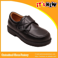 2015 Black Action Leather School Shoes for Boys