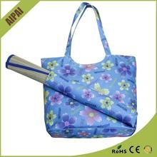2015 summer beach bag trendy canvas beach towel bag